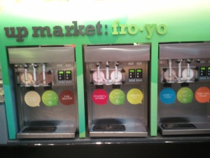 frozen yogurt station