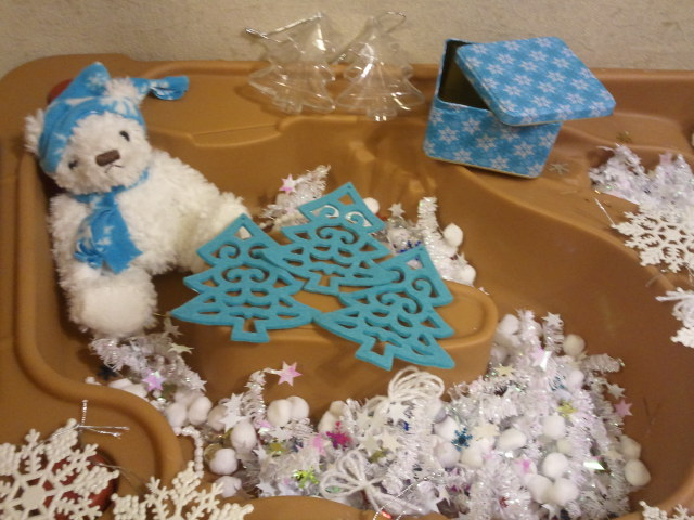 Winter Sensory Table Making Time For Mommy
