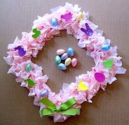 Paper Plate Easter Wreath