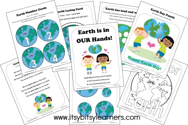 Earth Day Worksheets For Preschoolers : Earth day activities crafts making time for mommy