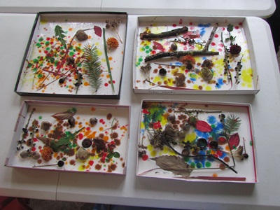 nature shadow boxes from teach preschool